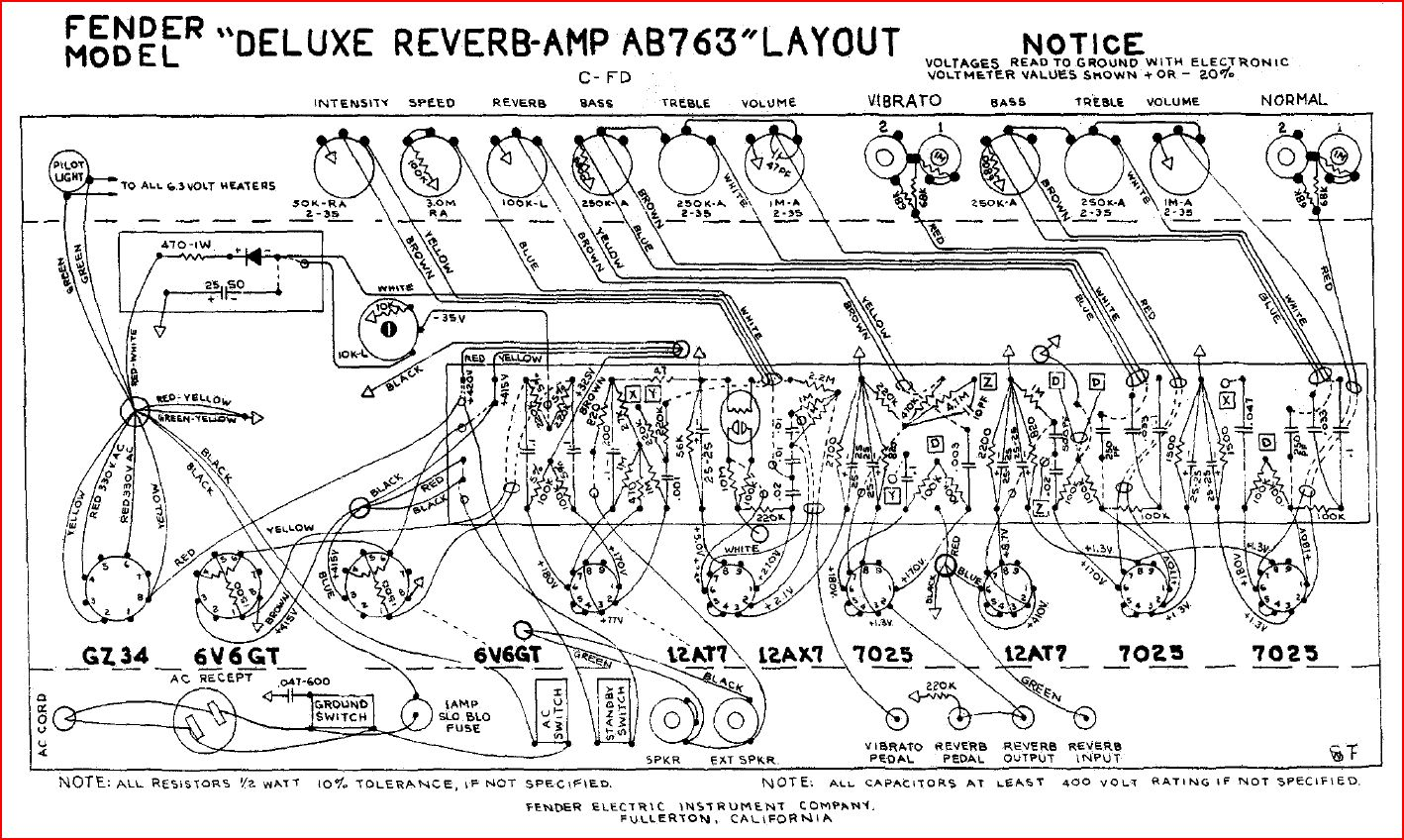 Rebuild Discussions Rebuilding A Fender Deluxe Reverb Tube Amplifier Circuit Board Design Although Mikey Has Previously Made Variety Of Different Boards He Decided To Specialize In The Reissues Specifically
