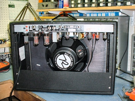 The Back Of My Amp Without Plate Note Reverend All Tone Speaker